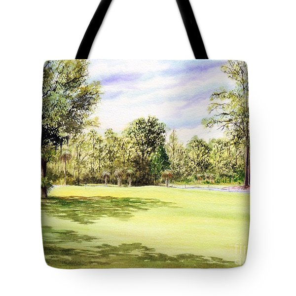 Perry Golf Course Florida  Tote Bag by Bill Holkham
