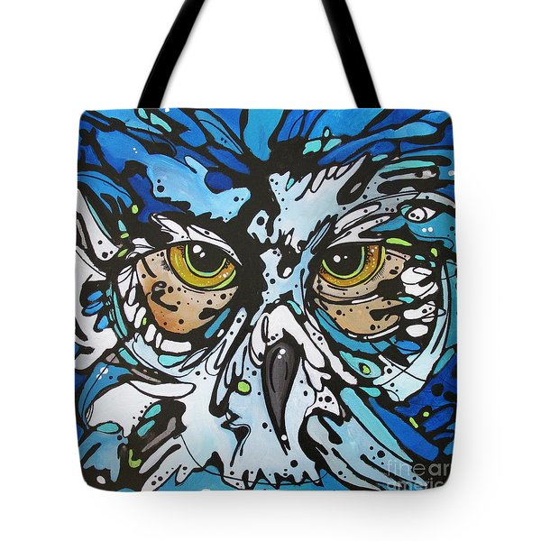 Tote Bag featuring the painting Perry by Nicole Gaitan