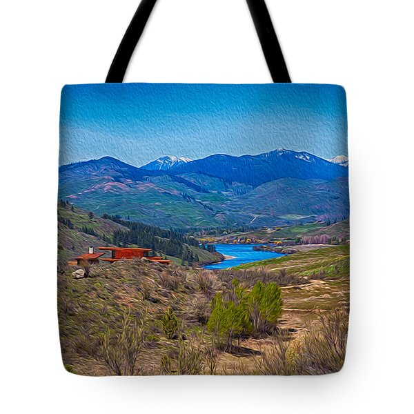 Perrygin Lake In The Methow Valley Landscape Art Tote Bag