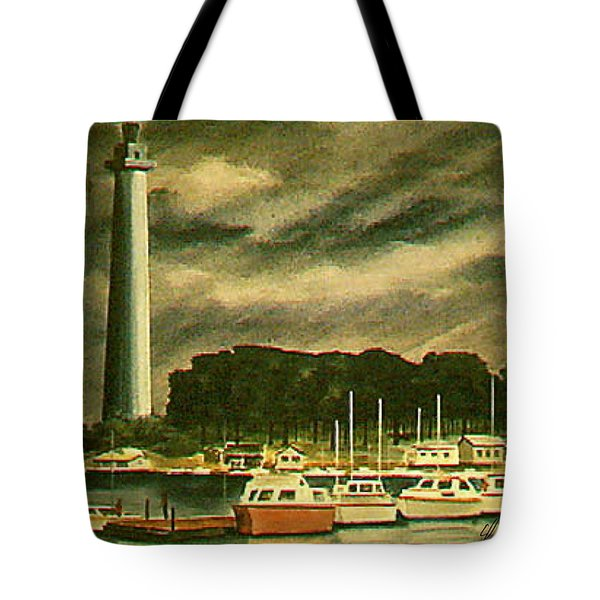 Perrys Monument On Put In Bay Tote Bag