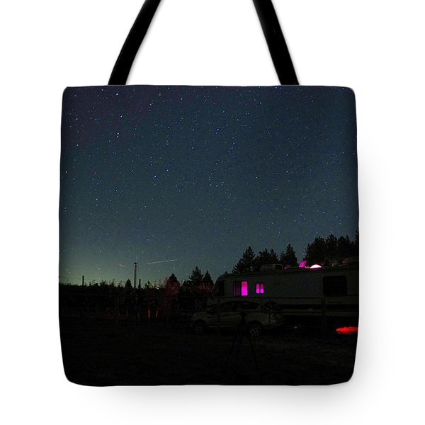 Perseid Meteor-julian Night Lights Tote Bag