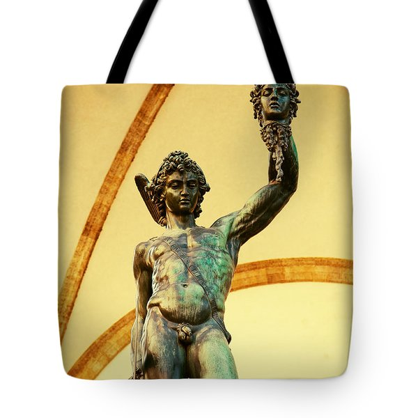Perseus With The Head Of Medusa Tote Bag