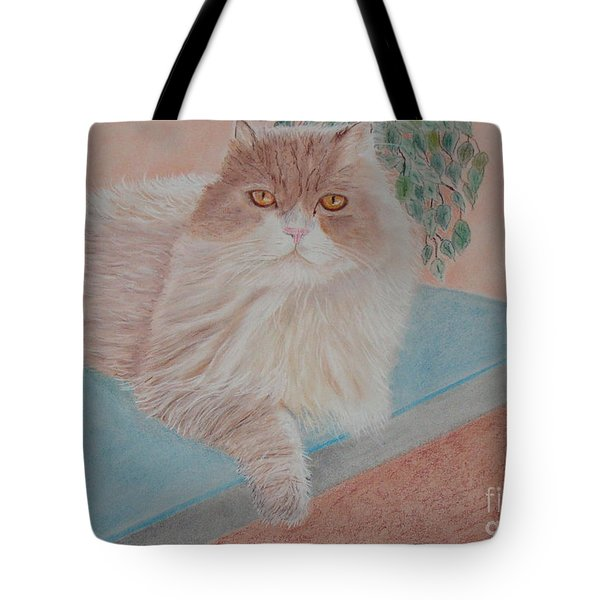 Persian Cat Tote Bag by Cybele Chaves