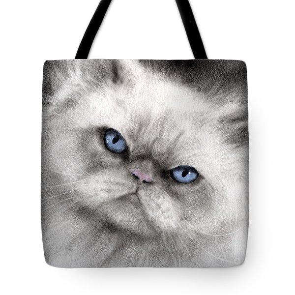 Persian Cat With Blue Eyes Tote Bag by Svetlana Novikova