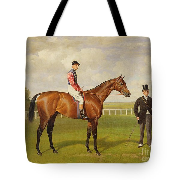 Persimmon Winner Of The 1896 Derby Tote Bag by Emil Adam