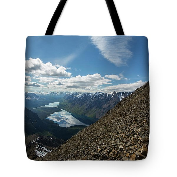 Person High Above Yukon Tote Bag
