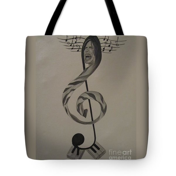 Personification Of Music Tote Bag