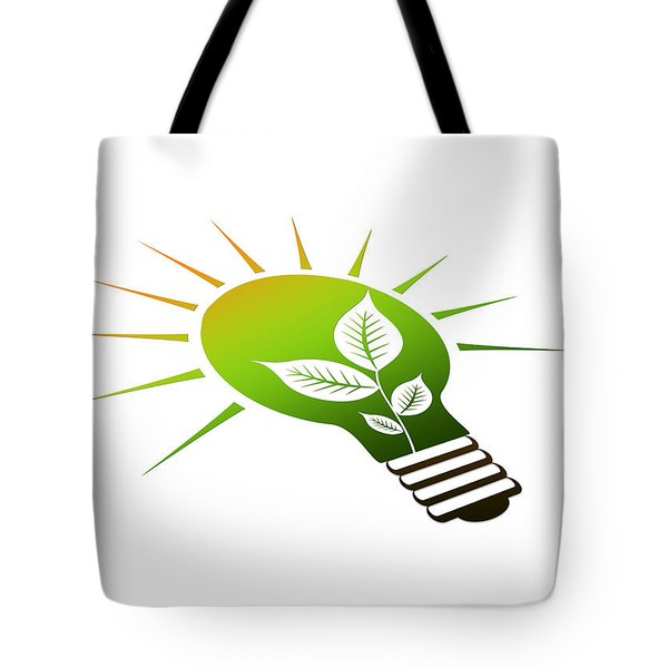 Perspective Ico Light Bulb Tote Bag by Aged Pixel