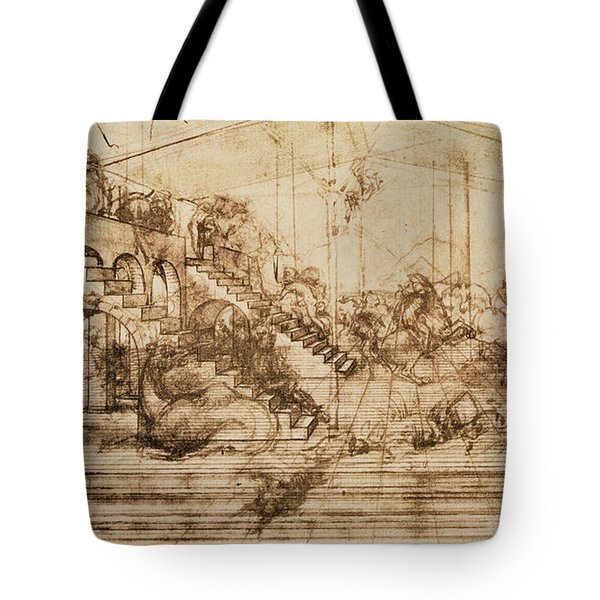 Perspective Study For The Background Of The Adoration Of The Magi Tote Bag by Leonardo da Vinci