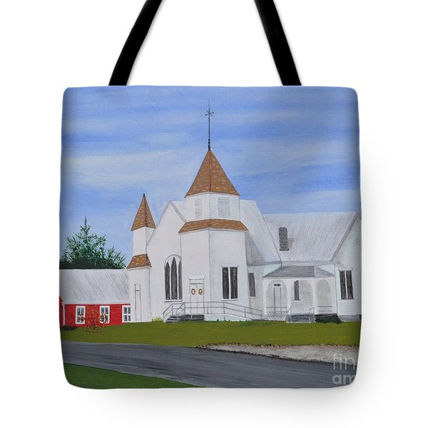 Peru Congregational Church Tote Bag by Sally Rice