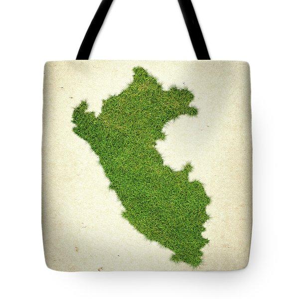Peru Grass Map Tote Bag