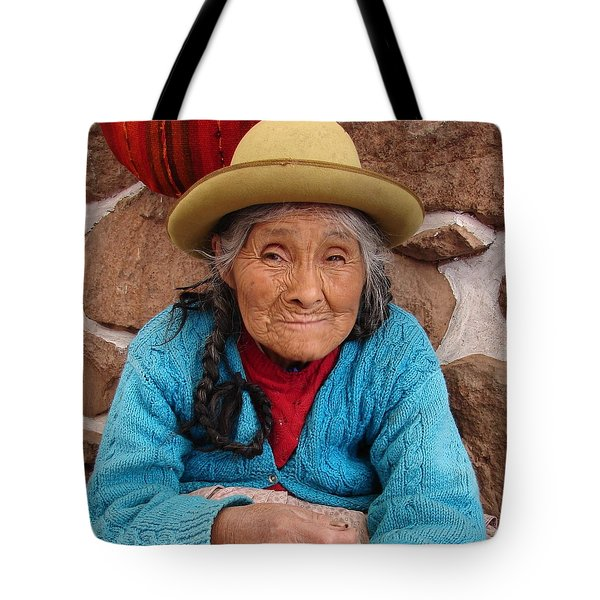Tote Bag featuring the photograph Peruvian Beauty by Ramona Johnston