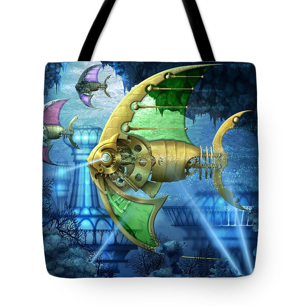 Pescatus Mechanicus Tote Bag by Ciro Marchetti