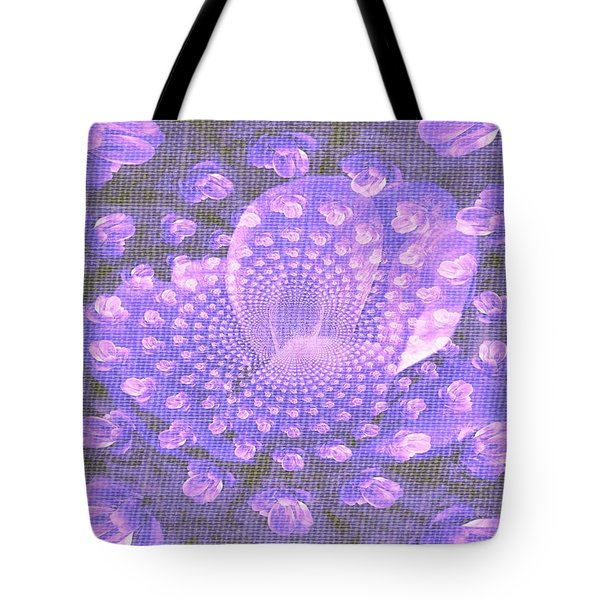 Tote Bag featuring the photograph Petals Down The Rabbit Whole by Amanda Eberly-Kudamik