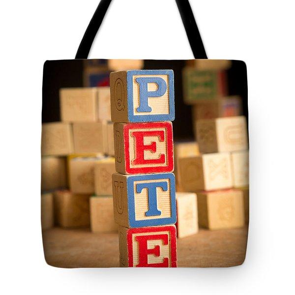 Pete - Alphabet Blocks Tote Bag