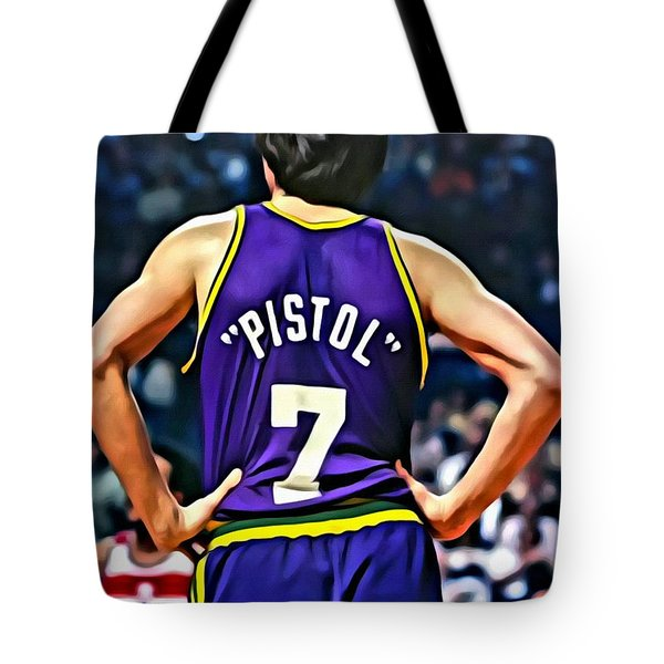 Pete Maravich Tote Bag
