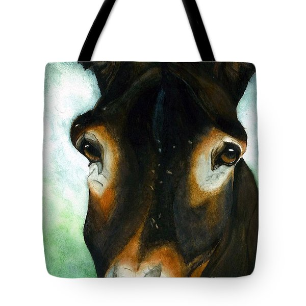 Pete The Mule Tote Bag by Janine Riley