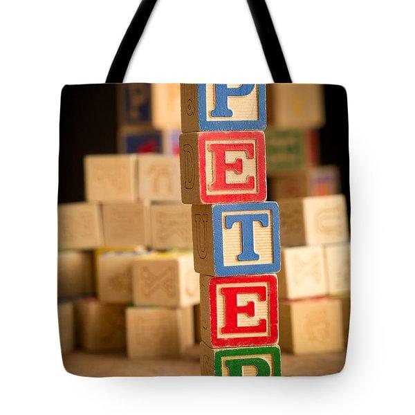 Peter - Alphabet Blocks Tote Bag