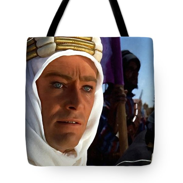Peter Otoole And Omar Sharif In Lawrence Of Arabia Tote Bag