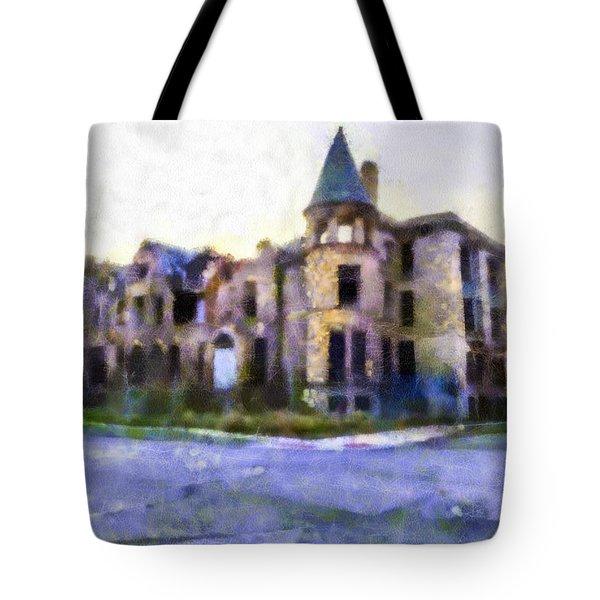 Peterboro Castle Ruins Tote Bag by Priya Ghose