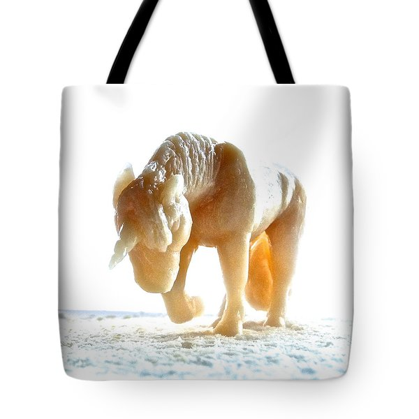 Petite Licorne Doree Sortant De La Lumiere Tote Bag