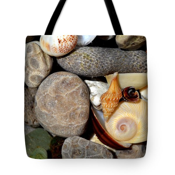 Petoskey Stones Ll Tote Bag by Michelle Calkins