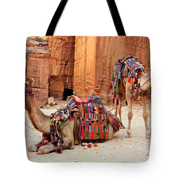 Petra Camels Tote Bag