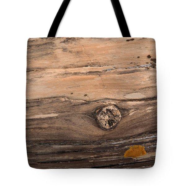 Petrified Wood Detail Tote Bag by Vivian Christopher