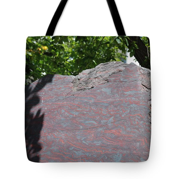 Petrified Wood On Display Tote Bag