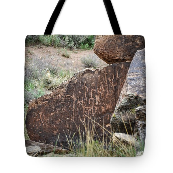Tote Bag featuring the photograph Petroglyph Art by Cheryl McClure