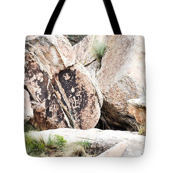 Tote Bag featuring the photograph Petroglyph by Cheryl McClure