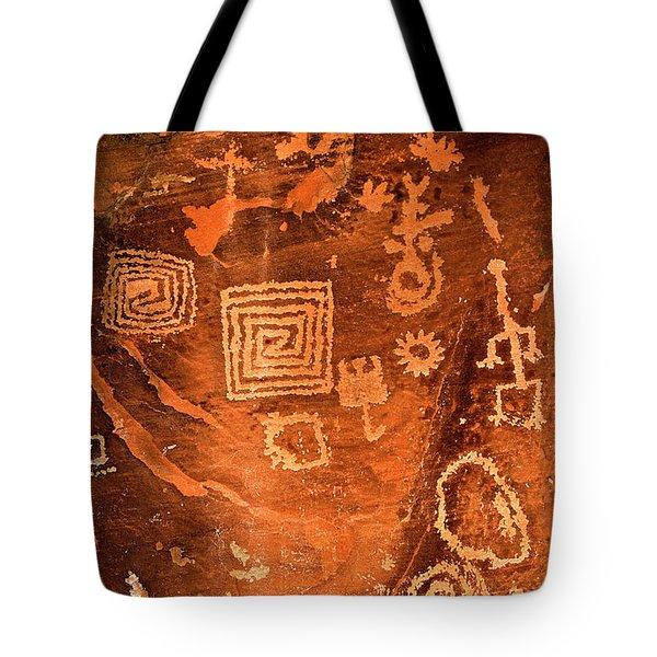 Petroglyph Symbols Tote Bag