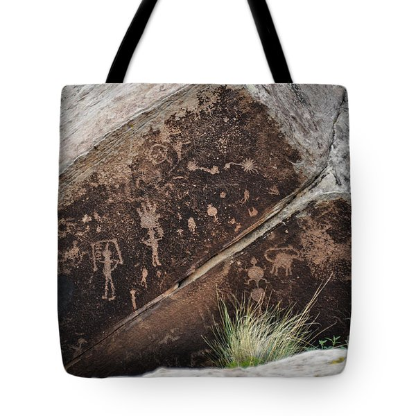 Tote Bag featuring the photograph Petroglyphs by Cheryl McClure
