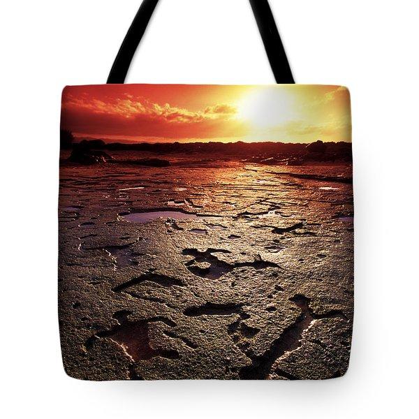 Hawaiian Petroglyphs Tote Bag