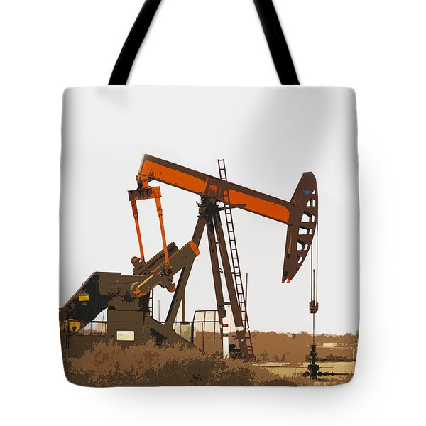 Tote Bag featuring the photograph Petroleum Pumping Unit by Art Block Collections
