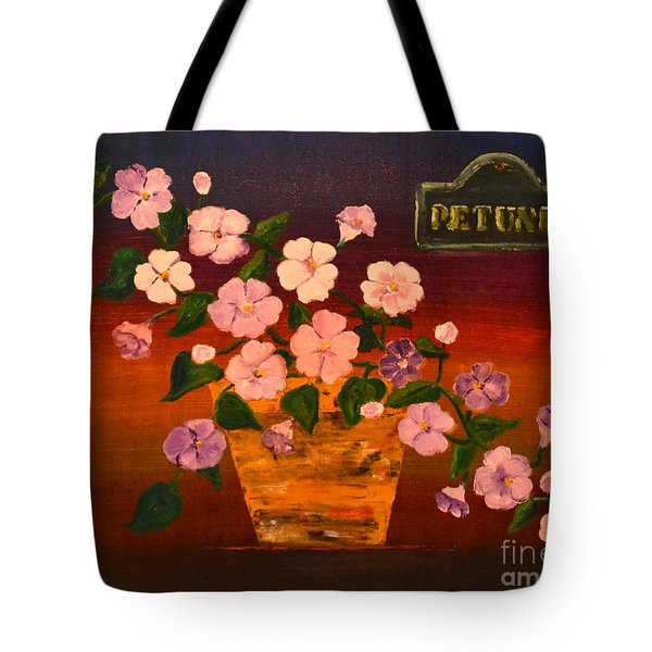 Tote Bag featuring the painting Petunia by Denise Tomasura