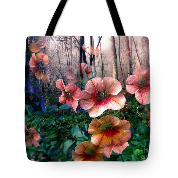 Petunias In The Forest Tote Bag