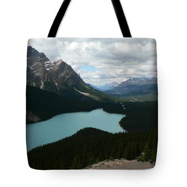 Tote Bag featuring the photograph Peyote Lake In Banff Alberta by Laurel Best