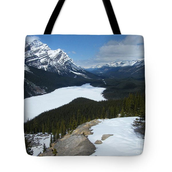 Tote Bag featuring the photograph Peyto Lake - Icefields Parkway - Canada by Phil Banks