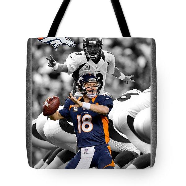 Peyton Manning Broncos Tote Bag