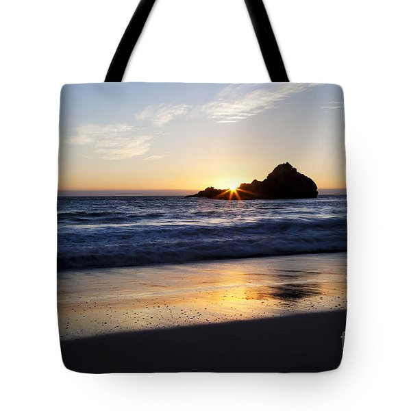 Pfeiffer Beach Sunset Tote Bag by Jenna Szerlag