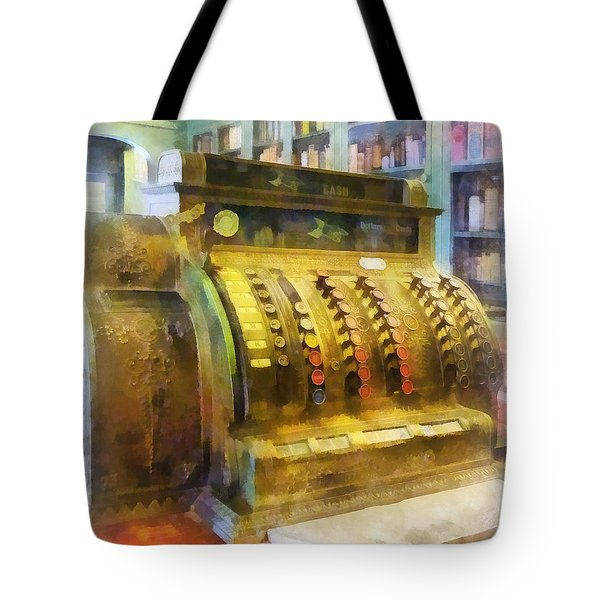 Pharmacist - Cash Register In Pharmacy Tote Bag by Susan Savad