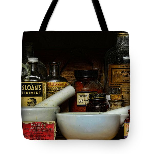 Pharmacist - Cod Liver Oil And More Tote Bag by Paul Ward