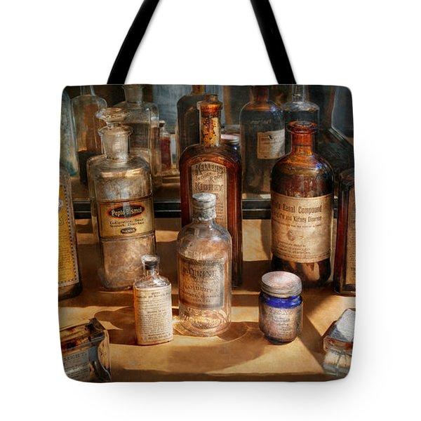 Pharmacist - Digestable Tote Bag by Mike Savad