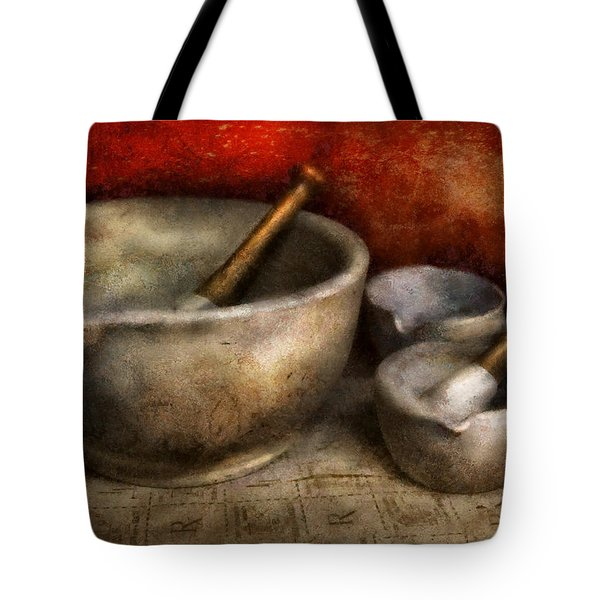 Pharmacist - Pestle And Son  Tote Bag by Mike Savad