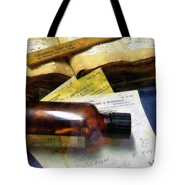 Pharmacist - Prescriptions And Medicine Bottles Tote Bag