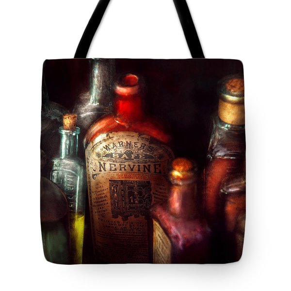 Pharmacy - A Safe Rheumatic Cure  Tote Bag by Mike Savad