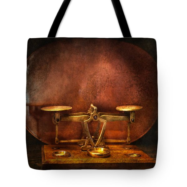 Pharmacy - Balancing Act  Tote Bag by Mike Savad