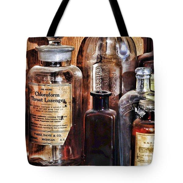 Pharmacy - Chloroform Throat Lozenges Tote Bag by Paul Ward