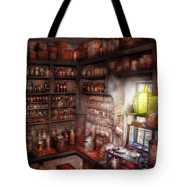 Pharmacy - Equipment - Merlin's Study Tote Bag by Mike Savad